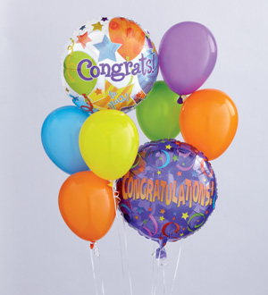 Safeway Floral Congratulations Balloon Bouquet FTD Florist Flower